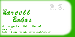 marcell bakos business card
